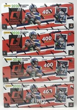 Lot of (4) 2020 Donruss Football Factory Sealed Complete (400)-Card Sets