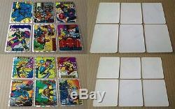 Marvel Prism X-Men Spider-Man Wolverine Complete Sticker Card Sets Collection
