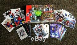Marvel Universe IV 1993 Sealed Card Box Skybox 36 PKS + 5 COMPLETE STICKER SETS