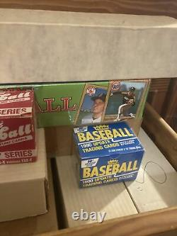 Massive Lot Of Baseball Card Complete Sets Late 80s Early 90s Topps Fleer Score