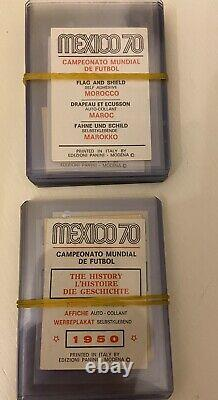 Mexico 1970 70 Panini Full Complete Set Red and Black Never Stuck in Album