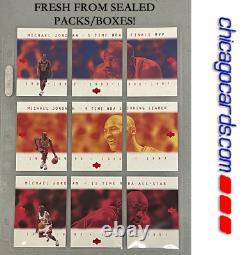 Michael Jordan RARE Japanese 9-Card Complete Set 3-Panel 2-Sided Pack-Fresh