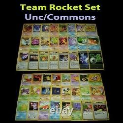 NM (Unlimited) COMPLETE Pokemon TEAM ROCKET 48-Card All UNCOMMON/COMMON Set