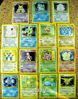 Near Complete 15 Card Base Set Holofoil LotPokemon Holos Venusaur Blastoise