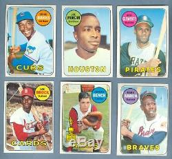 Nice Complete Set (664/664) of 1969 Topps BASEBALL CARDS, ExMT to NM+