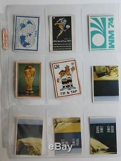 Original Panini Complete Unused Sticker Set 1974 Fifa World Cup Munich Munchen