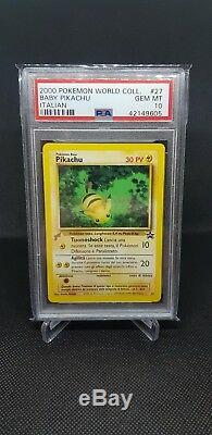 PSA 10 Complete Pikachu World Collection Set Pokemon Cards Incl Birthday Pikachu