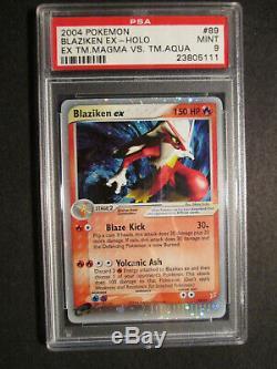PSA-9 COMPLETE Pokemon 7-Card EX TEAM MAGMA VS AQUA Set/95+Both Secret Rare Holo