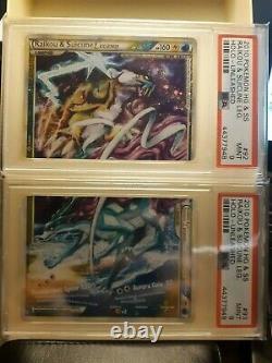 PSA 9 Raikou and Suicune Legend HGSS Unleashed Legend Complete Set Pokemon Card