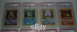 PSA Complete BASE 1ST EDITION 103/102 Pokemon Card Set 9.41 AVG Grade CHARIZARD