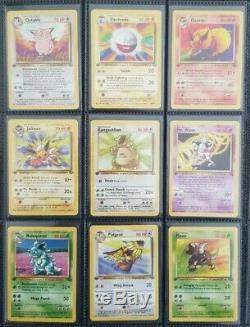 Pokemon 100% Complete 1st Edition Jungle Non Holo Set /64 Original Cards