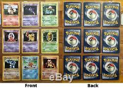 Pokemon 100% Complete Shadowless Base Set W. Charizard, Errors, 1st Edition Card