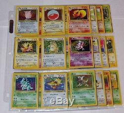 Pokemon COMPLETE JUNGLE SET 64/64 Cards Holos Rares
