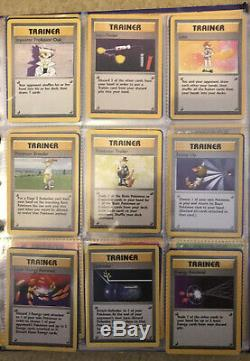Pokemon Card Complete Base Set 102/102 WOTC In Pocket Sleeves
