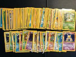 Pokemon Card Lot Complete Base set 102/102 with Charizard Blastoise & Venusaur