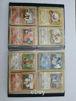 Pokemon Cards, 100% Complete Base Set 102/102 WOTC 1999 -Includes Folder
