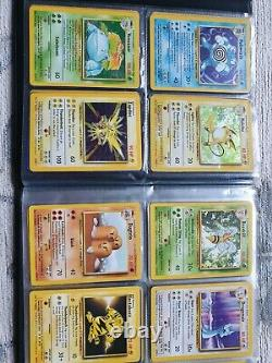 Pokemon Complete Base Set. Rare WOTC 1999 102/102 Full Card Collection in folder