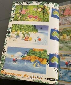 Pokemon Southern Islands Tropical Island Binder & Complete 9 Full Card Set