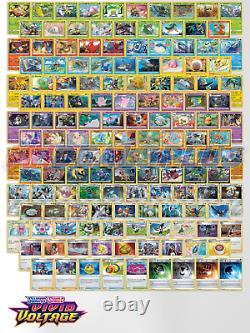 Pokemon TCG Sword & Shield Vivid Voltage COMPLETE SET 142 CARD SET H R UNC C