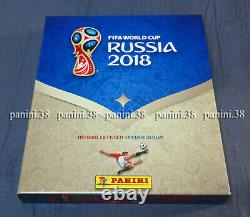 RARE! BOX Empty Album + Complete Set RUSSIA 2018 GOLD EDITION PANINI COLA