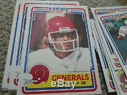 Rare 1984 Topps Usfl Football Complete Set 132 Cards Steve Young White Kelly