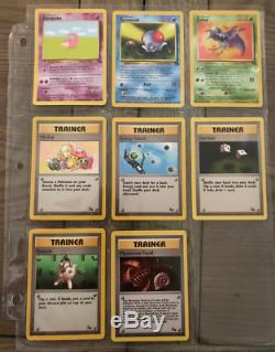 Rare Complete Pokemon Fossil Set Near Mint Condition 62/62 Original Cards