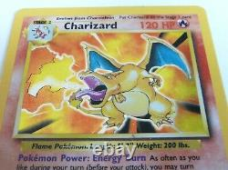 Rare Pokemon Cards Complete 102/102 Base Set Including Holo Charizard 4/102 etc