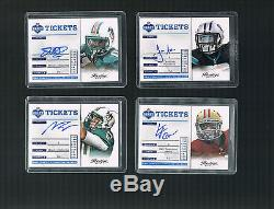 Russell Wilson & More COMPLETE SET 2012 Prestige Draft Ticket Autos 34 Cards