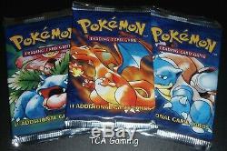 SEALED 3X Base Set Packs Set (WEIGHED HEAVY) Complete Art Set Pokemon Card