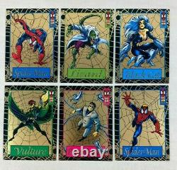 THE AMAZING SPIDER-MAN Fleer 1994 Complete GOLDEN WEB Chase Card Set Wal-Mart