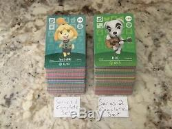 THIS WEEKS SUPER SALE Series 1 & 2 Amiibo Card Complete Mint Sets 001-200 US/NA