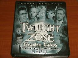 TWILIGHT ZONE Collectors Binder / Album & 5 Trading Card Base Sets The Complete