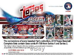 Topps 2018 Baseball Hobby Edition Complete 705 Card Factory Set Baseball Sets