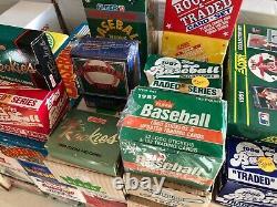 Topps Fleer Donruss Upper Deck Baseball Card Complete Set lot of 47 Sets 86-93