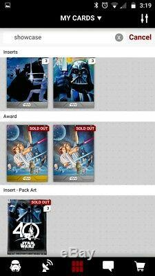 Topps Star Wars Card Trader Complete Showcase Sets WithAwards Steel & Gold + Pack