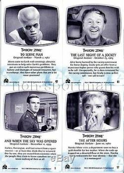 Twilight Zone Series 1,2,3,4, & Complete Series (five Different Card Sets)