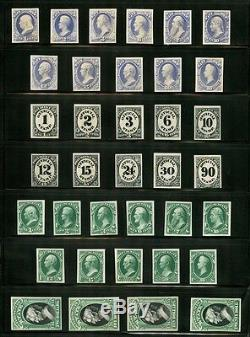 #o1p4-o93p4 Complete Sets Of Officials Plate Proofs On Card Wlm4082